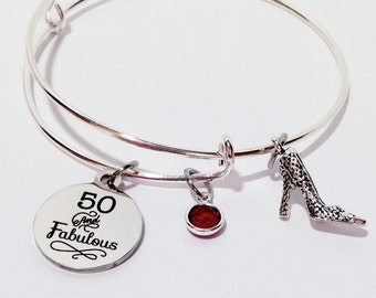 50 And Fabulous 50th Birthday Gift For Women Th Over The Hill Party Fifty