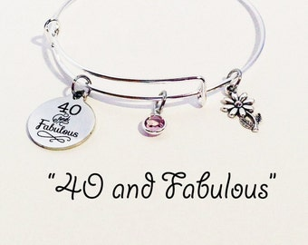 40th Birthday Gift 40 Year Old Over The Hill Gifts For Women And Fabulous