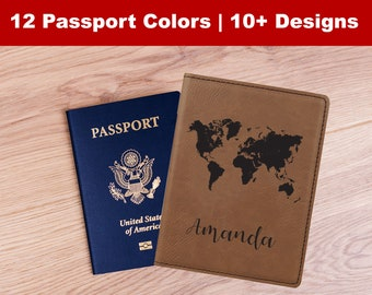 Custom Passport Cover, Personalized Passport Holder, Monogram Passport Wallet, Travel Case, Leather Travel Gifts, Vacation Gifts, Traveler