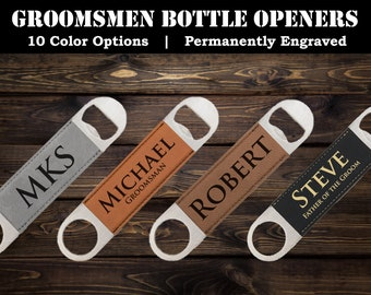Groomsmen Bottle Openers, Groomsman Party Gifts, Engraved Bottle Opener, Etched Beer Bottle Opener, Best Man Gifts, Father of the Groom