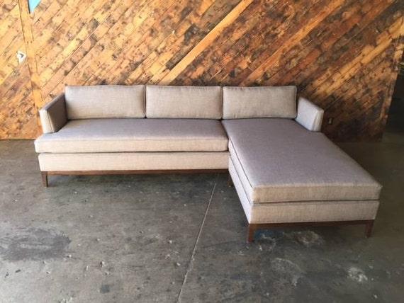 Terrific Mid Century Style Custom Reversible Sofa Chaise Lounge Beatyapartments Chair Design Images Beatyapartmentscom