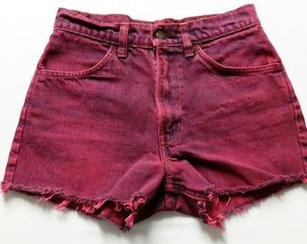 9ab7bd5e0ffb 27 inch waist-----High waist hot pink Levis cut off denim shorts Orange tab