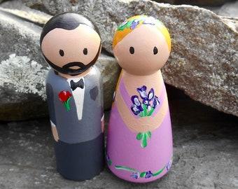 Bride /& Groom Dollhouse Miniature Unfinished Metal Large Wedding Rabbit