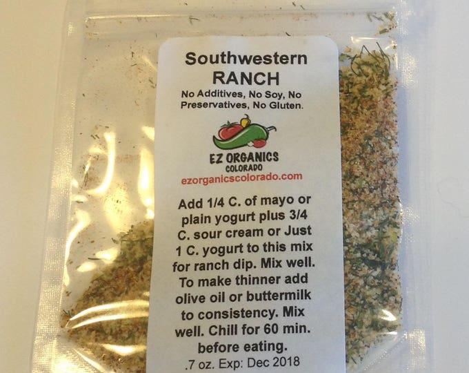 Southwestern Ranch dressing organic MIX. BPA free. No Dairy no additives no preservatives. Low salt