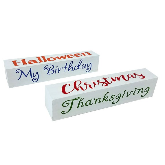 Halloween Thanksgiving Christmas Countdown.Days Until Holiday Countdown Block Set Days Until Christmas Halloween Thanksgiving My Birthday