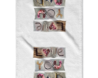 Hand Towel with inspirational affirmations and messages FATHER'S DAY SPECIAL towel