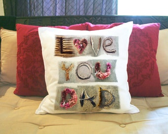 Love you DAD. Special occasion pillow. Pillowcases and Pillows: Decorative, Accent & Throw Pillow cover.