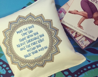 Throw Pillow and Pillowcases with words -May the long time sun Shine upon you, All love surround you, And the pure light within you Guide...