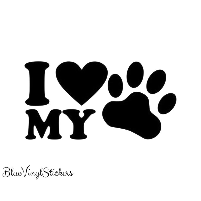 Rescue Mom Vinyl Car Decal Tumbler cup Mug decal 3.5 H Dog Cat Paw stickers.