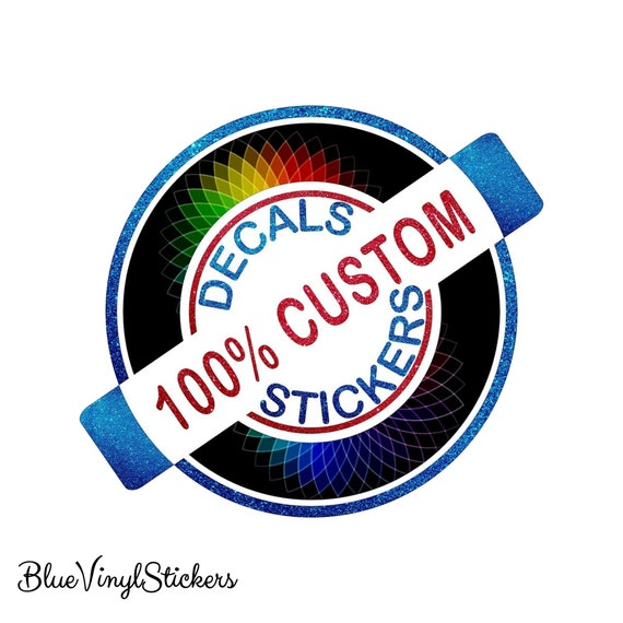 """Blue Hibiscus Decal Bumper Sticker Personalize Gifts Any Name Or Text 3.5/"""" x 6/"""""""