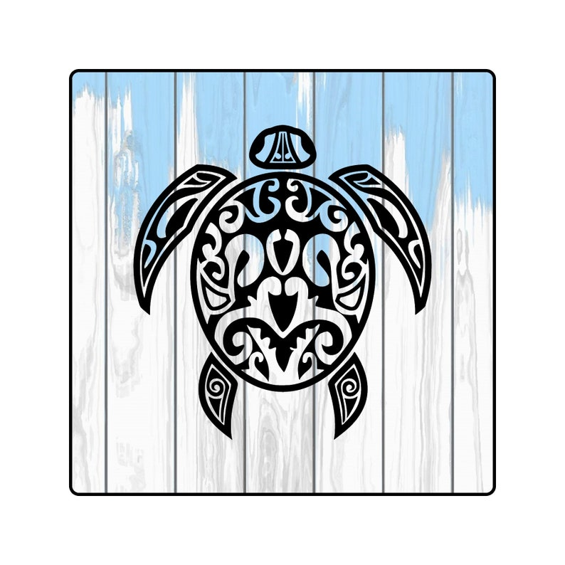 06dfd5296 Tribal Sea Turtle Tribal Turtle Decal Tribal Turtle Sticker   Etsy