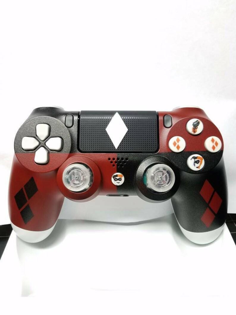 Custom Harley Quinn New Wireless Dualshock4 Controller Made image 0