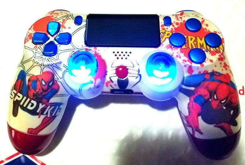 Custom Spiderman New Wireless Dualshock 4 Controller with image 0