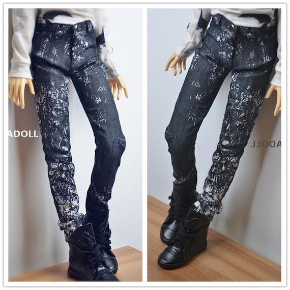 Super long Black Leather Coat for BJD 1//4 MSD 1//3 SD17 Uncle Doll Clothes CM7