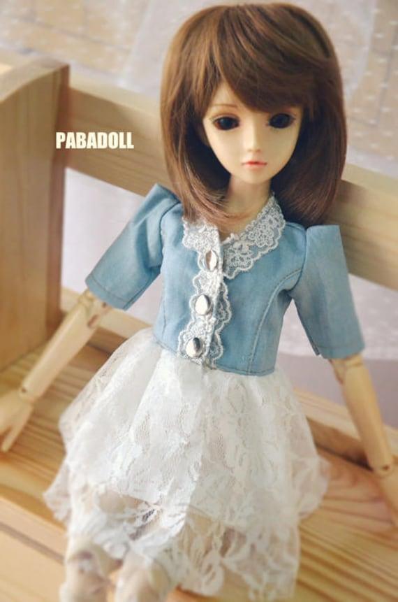 Light Green Bib Pants for BJD Girl//Boy 1//8 1//6 YOSD 1//4 MSD Doll Clothes CWB77A