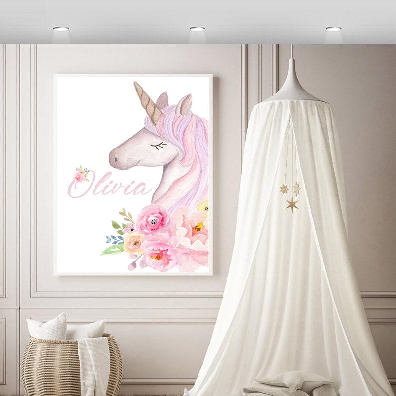 Unicorn Wall PrintName wall printUnicorn print Unicorn Wall image 0