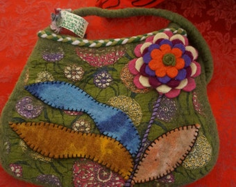 Merino Wool Felted Bag