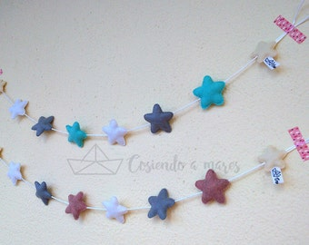 Felt star wreath
