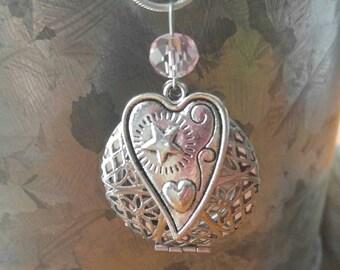 Silver Heart Essential Oil Diffuser Locket Necklace