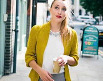 Pleated Cardigan ~ PRINT COPY ~ Advanced Crochet Cardigan Pattern for Women