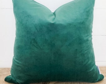 SALE - Cushion Cover - Hunter Green Velvet