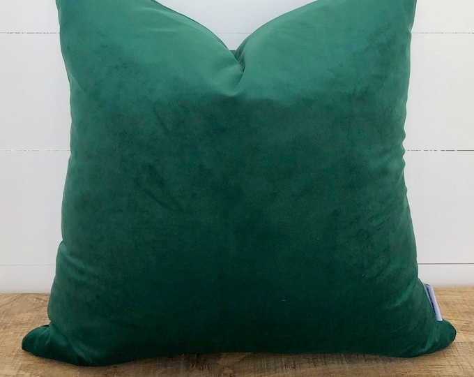 Cushion Cover - Hunter Green Velvet