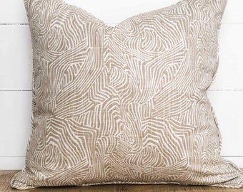 Cushion Cover - Bark Print with piping