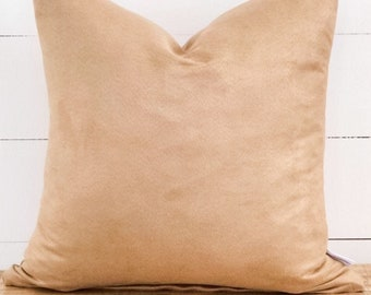 Cushion Cover - Sand Suede