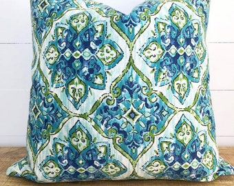 SALE - Moroccan Tile Indoor/Outdoor Cushion Cover with rave charcoal back