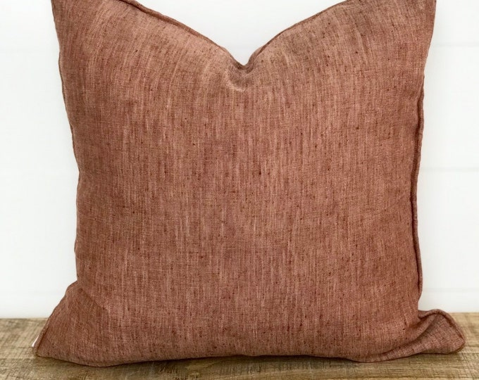 100% European Linen Russet Cushion Cover