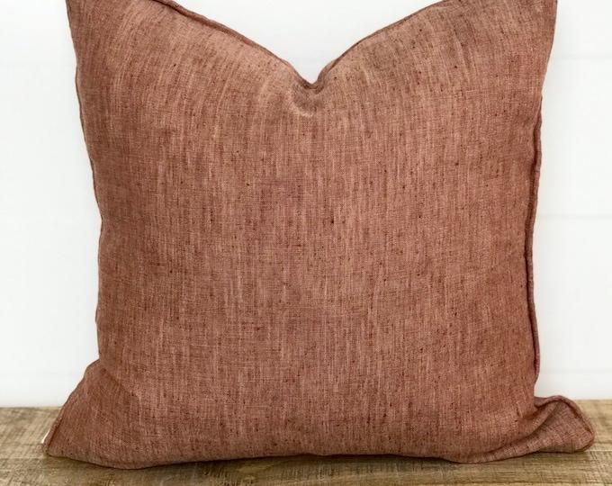 Cushion Cover - 100% European Linen Russet