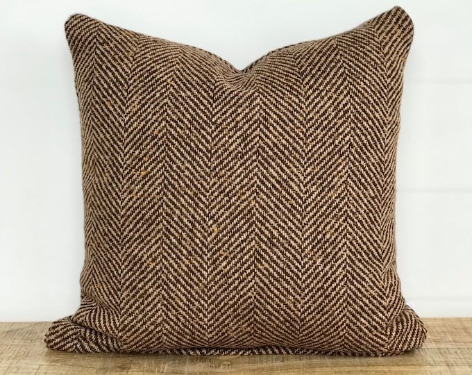 Wool Herringbone Cushion Cover