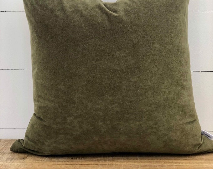 Moss Green Suede Cushion Cover