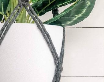 Macrame Plant Hanger - Charcoal