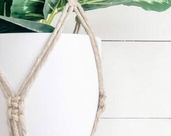Macrame Plant Hanger - Linen