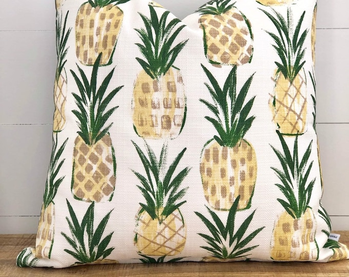 Outdoor Cushion Cover - Tropical Punch with Green seeds Backing