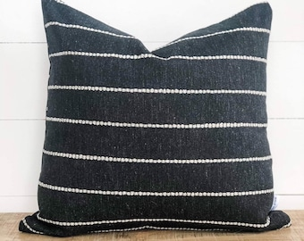 Cushion Cover - Striped Onyx