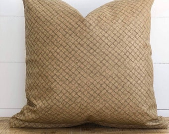 Cushion Cover - Wheat Rustica Faux Leather