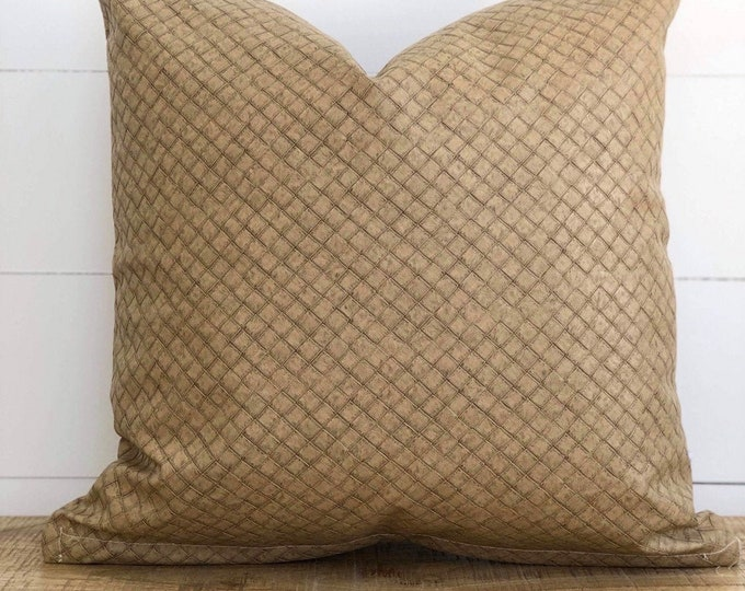 Cushion Cover - Wheat Rustica Faux Leather