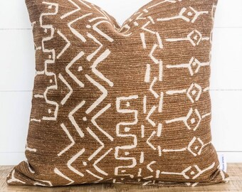 Cushion Cover - Bronzed Tribal Mudcloth
