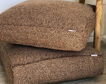 Wool Herringbone Floor Cushion Cover