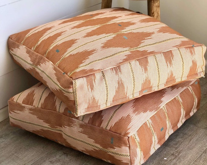 Southwest Rosewood Woven Floor Cushion Cover