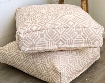 Blush Artistry Tribal Floor Cushion Cover