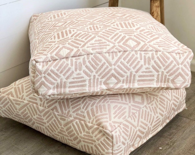 Blush Artistry Tribal Floor Cushion Cover