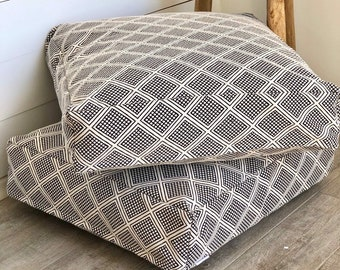 Modern Wanderer woven floor cushion cover
