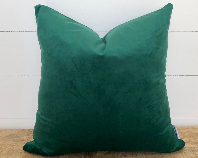 Hunter Green Velvet Cushion Cover