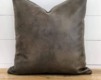 Cushion Cover - Cave Faux Leather