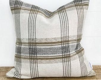 Cushion Cover - Toast Plaid Basketweave