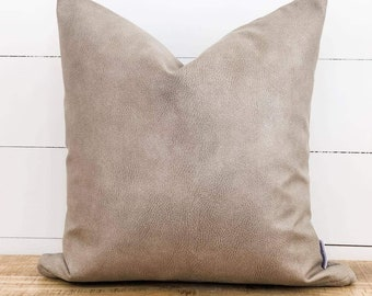 Cushion Cover - Pumice Faux Leather