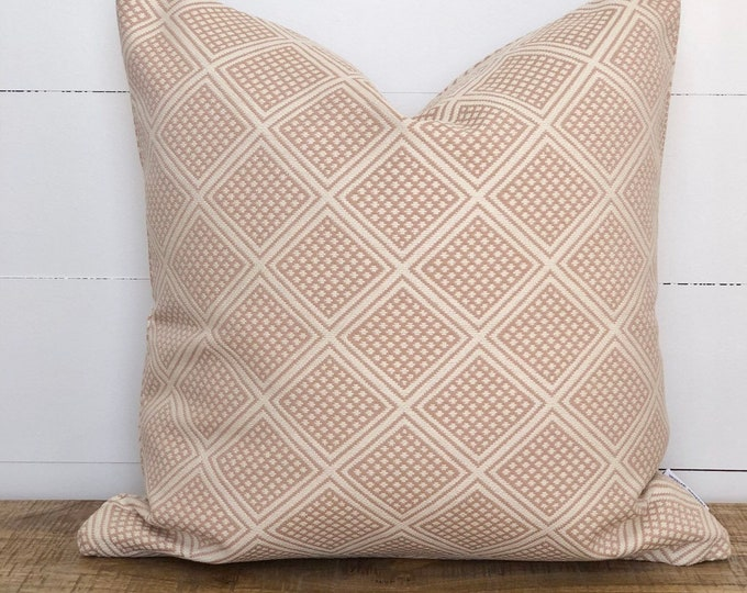 Blush Pink Modern wanderer tribal cushion cover